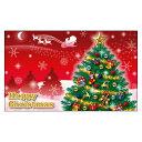 クリスマスカード サンタクロース サンタ 【DMM-157-L】100枚パック 気軽に使える名刺サイズのメッセージカード デザインメッセージカードミニ ミニメッセージカード【ネコポス対応商品】