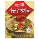 味の凝縮,スープが無ければ始まらない本格調理のお勧め韓国スープ ■韓国食品■牛骨をじっくり煮込んだスープに干し白菜を入れ、濃厚ながらさっぱりした味!韓国スープ/韓国湯/健康食品/牛骨ウゴジスープ