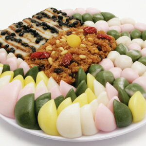 "◆Refrigeration ◆"" rice cake モドウムトック plate set ""is / midyear gift / gift / present / present in large ""■ Korea food ■ Korean food / Korea food / Korea rice cake / handicraft rice cake / Korea tradition rice cake / Mother's Day"""