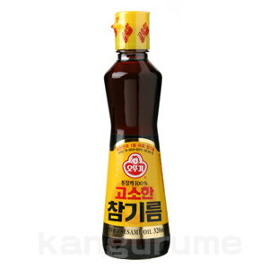 """オットギ"" sesame oil 320 ml ■ Korea food ■ low-price / Korea / Korea food / seasoning / Korea seasoning / Korea sesame oil / Korea sesame oil / sesame oil and sesame oil"
