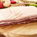 ■韓国食品■最近はオーギョッサルが(皮付き豚バラブロック)人気。/皮付豚バラ肉ブロック(皮付サムギョプサル)1kg