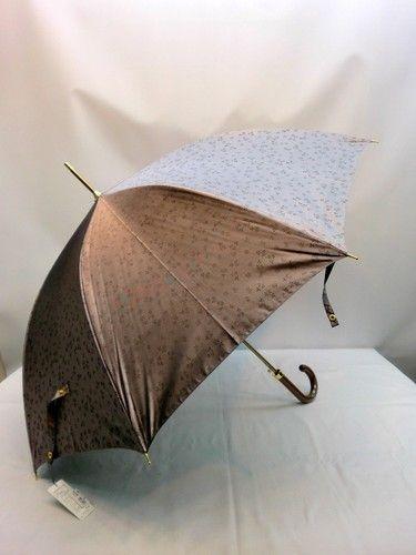 雨傘・長傘-婦人 先染小花ジャガード両面日本製ジャンプ雨傘 傘 雨具 梅雨対策 ゲリラ豪雨えらい