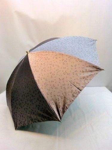 雨傘・折畳傘-婦人 先染小花ジャガード両面日本製2段式折畳雨傘 傘 雨具 梅雨対策 ゲリラ豪雨