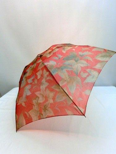 雨傘・折畳傘-婦人 極薄オーガンジー楓柄超軽量ミニ折畳日本製雨傘 傘 雨具 梅雨対策 ゲリラ豪雨【?新しい】
