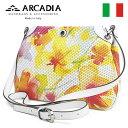 ショッピングポシェット レディースバッグ イタリア製 牛革 ポシェット ARCADIA アルカディア Art.2568 GIALLO BIANCO イエローホワイト