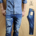 JAPAN BLUE JEANS Japan blue jeans 12 oz CALIF DENIM Santa Monica damage remake jeans JB2400