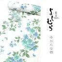 【ゆかた】嵐山よしむら 白系地・桜【洗えるゆかた】 【反物】【送料無料】