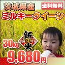 ミルキークイーン 30kg【新米】 平成25年 茨城県産 一等米 お米 玄米対応 精米無料【送料無料】※玄米ご希望の場合は、必ずプルダウンより選択して下さい↓