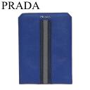 プラダ サフィアーノ リーゲ iPadミニケース アイパッドミニケース 青 2ARI08 未使用【中古】