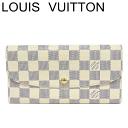 ルイヴィトン ヴィトン 長財布 財布 ポルトフォイユエミリー ダミエ アズール N63546【中古】