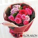 バラ 花束 シャインローズブーケ そのまま飾れる花束 花瓶が...
