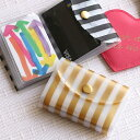 【ストライプ3色】ネージュ クリアカードケース /増えるカードの収納に透明カードケース《おしゃれ/大人/かわいい/可愛い》