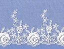 18.5cm巾のナイロンチュールレース(ホワイト)[70865-2]