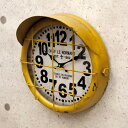 RoomClip商品情報 - アンティーク クロック サブマリン イエロー(潜水艦)レトロ調 ビンテージ クロック 壁掛け時計 時計 アメ雑貨 男前 西海岸風 インテリア アメリカン雑貨