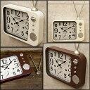 アンティーク クロック TV(テレビ)レトロ調 ビンテージ クロック 壁掛け時計 置き時計 アメリカン雑貨 アメリカ雑貨 レトロ