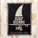 アメリカン ブリキ看板 SURF RIDERS/サーフライダーズ(AZ/16006)エンボス(凸凹)ティンサイン/メタルサイン 看板 西海岸 サーフ 雑貨 アメ...