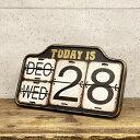 ガレージ カレンダー(S 16001)アイアンカレンダー スタンドカレンダー 西海岸風 インテリア アメリカン雑貨