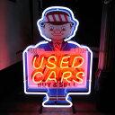 アメリカン ネオンサイン 「USED CARS」 ネオン管 ネオン看板