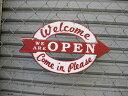 アメリカン ブリキ看板 OPEN/CLOSED 両面看板(オープン/クローズ)TW96 ティンサイン/メタルサイン ビンテージ看板 ガレージ アンティーク 雑貨 アメリカン雑貨 アメリカ雑貨 看板