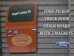 フォード ピックアップ トラック ドア チョークボード(マグネット付き)マグネットボード 磁石 オブジェ アメ車 ビンテージカー 黒板 おしゃれ壁掛け アメリカン雑貨 アメリカ雑貨 ガレージ