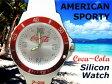 コカコーラ アメリカン シリコンウォッチ(ホワイト)腕時計 ブランド メンズ腕時計 レディース腕時計 人気 電池交換 Coca-Cola/COKE アメリカン雑貨 アメリカ雑貨 コカコーラグッズ
