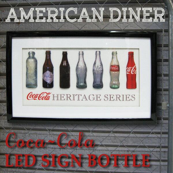 コカ・コーラ(Coca-Cola)3D LED SIGN BOARD アメリカン ネオンサインボード/ライト付き(コカコーラ/ボトル)ネオン看板 LED ネオンフレーム ランプ 看板 アメリカン雑貨 アメリカ雑貨 看板