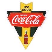 【コカコーラ メタルサイン アロー 35cm PJ-SD 01】アメリカ看板 ブリキ看板 Coca・Cola コカコーラ看板 ブランド コカコーラグッズ メタル看板 ドリンク アメリカ雑貨 コカ・コーラ 西海岸風 インテリア アメリカン雑貨