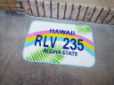 Hawaiian (Hawaii/Rainbow) floor mat door mat casual American American gadgets Interior mat room in wash non-slip