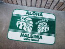 Hawaiian (Hawaii/leaf) floor mat door mat casual American American gadgets Matt Interior mat room in wash non-slip