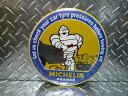 ミシュラン ビバンダム カー(MICHELIN)ラウンド ティン プレート メタルサイン アメリカ看板 ブリキ看板 タイヤ レース アメリカン雑貨 アメリカ雑貨 アメリカ