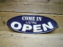 American Tin Sign OPEN/COME IN (open come in) arrow embossed (contoured) Tin sign board / metal sign board sign garage gadgets