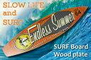 サーフボード ウッドプラーク エンドレスサマー「Endless Summer/502」アロハ・マウイ/インテリア/ハワイ アメリカン雑貨 ハワイアン雑貨 サーフ