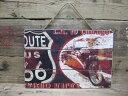 アメリカン ウッド サインボード ルート66(ROUTE66)ガレージ看板 木製看板 ビンテージ看板 アメリカ看板 看板 アメリカ雑貨 アメリカン雑貨 看板