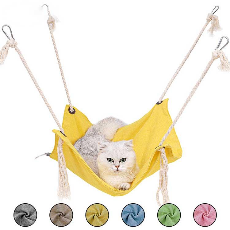 ハンモックベッドキャットハンモックネコ取り付け簡単ねこペットベッド猫ベッド猫用品昼寝ペット猫ハンモッ