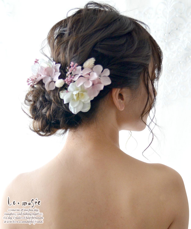 ヘッドドレス 花 ウェディング デルフィニュー...の紹介画像2