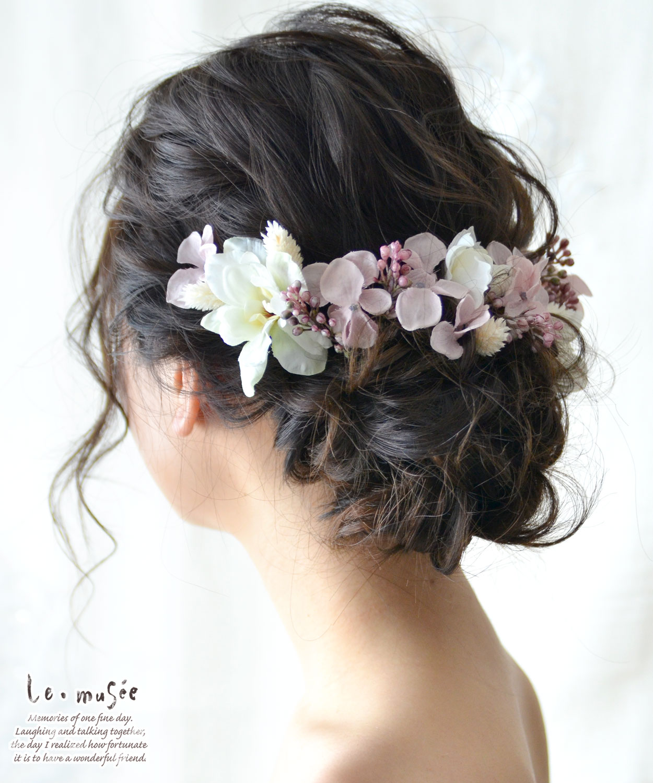 ヘッドドレス 花 ウェディング デルフィニュー...の紹介画像3