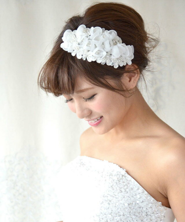 ボンネ アリア   ヘッドドレス 髪飾り ヘア...の紹介画像2