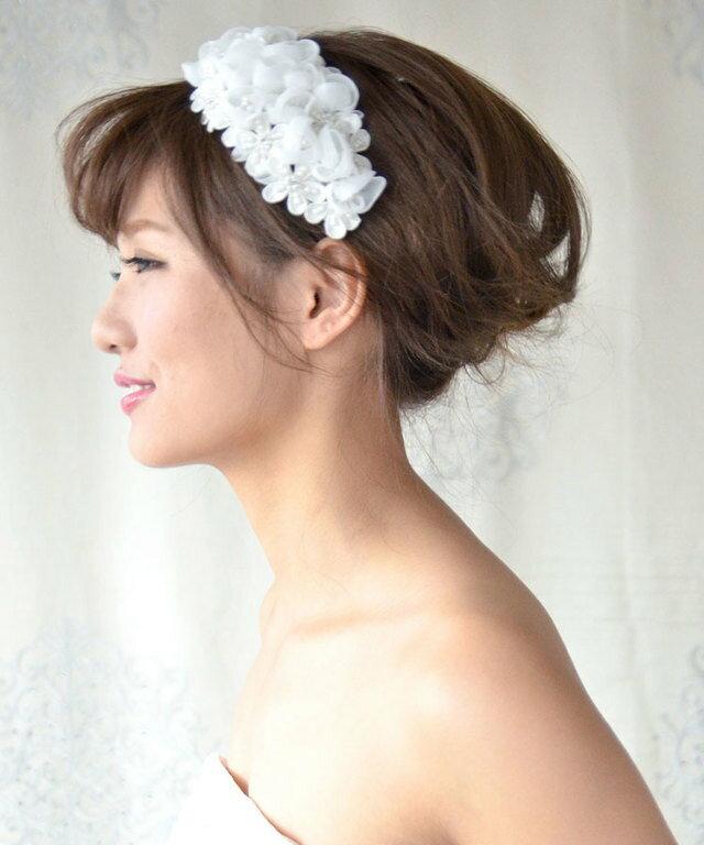 ボンネ アリア   ヘッドドレス 髪飾り ヘア...の紹介画像3