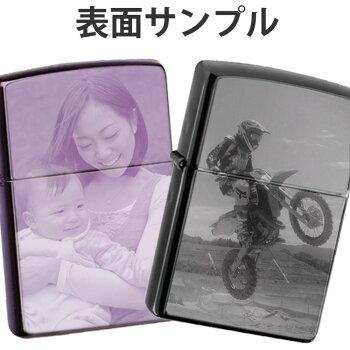 【オリジナルZippo写真彫刻】思い出の写真やプリクラ画がZippo/ジッポ/ジッポーに!/贈物/ギフト/オプション購入で名入れ可