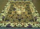 魅了のシルクロード芸術!!中国シルク絨毯 (約6畳相当)