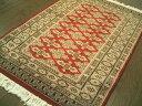 ※在庫無し・・・美しいレッド■パキスタン絨毯■92×60■玄関マットサイズ