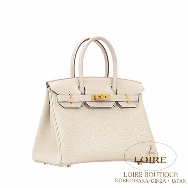 hermes birkin bag 30 craie clemence leather gold hardware