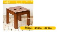 【teak-stool】アジアンシンプルなチーク材マルチスクエアスツール