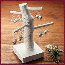バオバブの木をモチーフにした素朴さが魅力なバオバブピアススタンド 【49673】 (アジアン雑貨 天然木 バリ アクセサリー おしゃれ ホルダー ピアス スタンド)