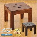 アジアンシンプルなチーク材マルチスツール(スツール 木製 おしゃれ アジアン家具 サ