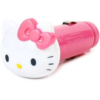 你好凱蒂 USB 充電器裝車充電器與 USB 插座絲帶粉紅色 ☆ 三麗鷗汽車用品系列 ★ 黑貓 DM 航班非-10P18Jun16