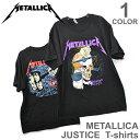メタリカ/Metallica JUSTICE Tシャツ へヴィメタ ロックT バンドT BLACK ブラック ヒップホップ ロゴT 正規品 本物【あす楽】メール便可