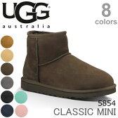UGG/アグ 正規品 CLASSIC MINI/クラシックミニもこもこムートンブーツ♪スリッポン スエード/レディース/オーストラリア シープスキン 5854