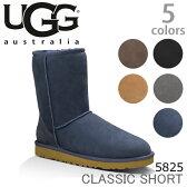UGG/アグ 正規品 CLASSIC SHORT/クラッシック ショートブーツ もこもこムートンブーツ♪スリッポン スエード/レディース/オーストラリア シープスキン 5825