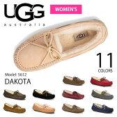 アグ/UGG正規品 DAKOTA/ダコタもこもこムートンモカシン♪スリッポン スエード/レディース/オーストラリア シープスキン 5612